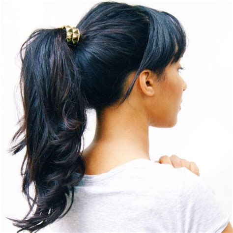 Ponytail Hairstyles With Bangs by Effortless Ponytail Hairstyles With Bangs Haircuts