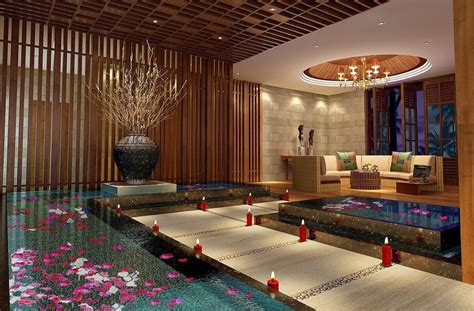 Spa Interior Wood Ceiling Design 3d House Free 3d House Pictures And Wallpaper