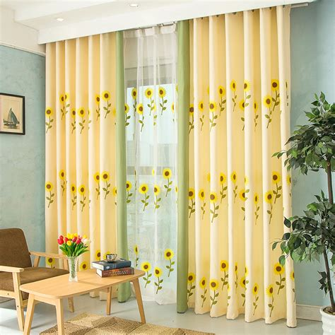popular sunflower kitchen curtains buy cheap sunflower