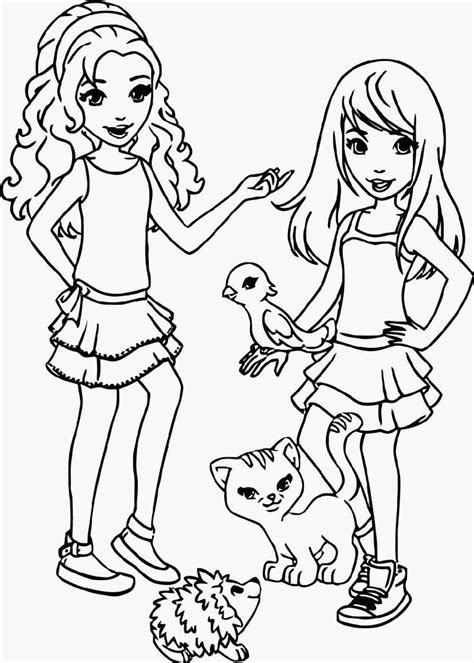 Lego And Friends Coloring Pages Coloring Home Fun Fruit Coloring Page L
