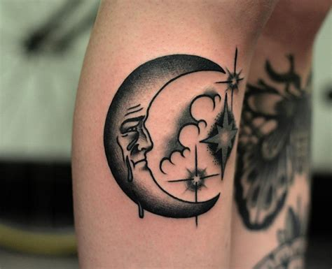 man in the moon tattoo designs moon tattoos page 2