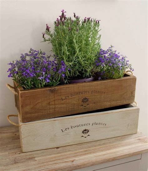 indoor wood planter vintage style window boxes and vintage on pinterest