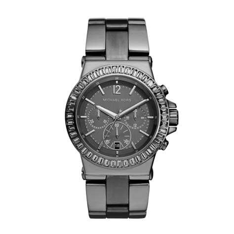michael kors chronograph gunmetal s in