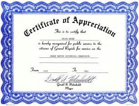 Appreciation Certificates Templates by Certificate Of Appreciation Template Cyberuse