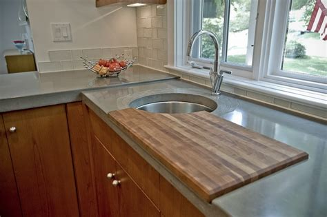 Cutting Board Kitchen Countertop by Concrete Details Accessories Reaching