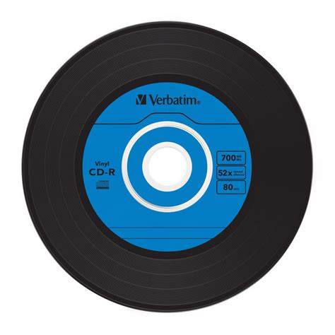 verbatim printable vinyl cd verbatim 52x cd r quot quot vinyl 45rpm single quot quot label azo