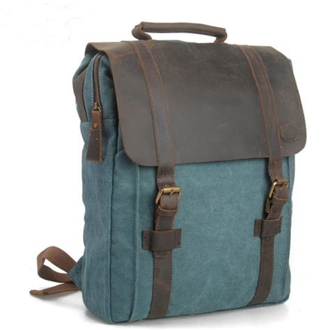 backpack with leather straps leather straps canvas backpack for laptop 183 vintage rugged canvas bags 183 store powered by