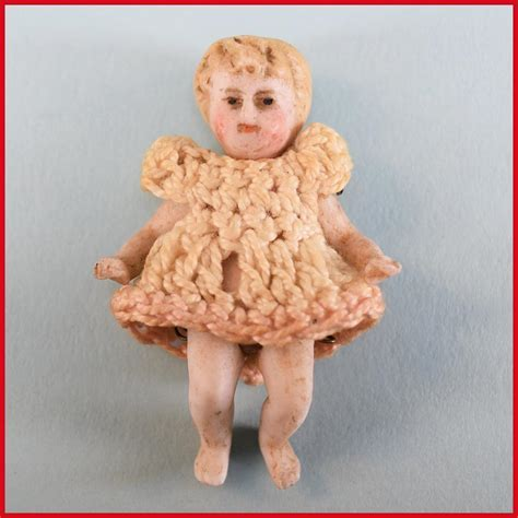 1 3 jointed doll 1 3 4 quot antique all bisque baby doll with 5 pin
