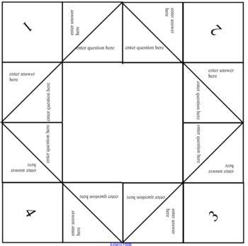 1000 Images About Cootie Catcher On Pinterest The Notebook Math And Sunday School Fortune Builders Templates