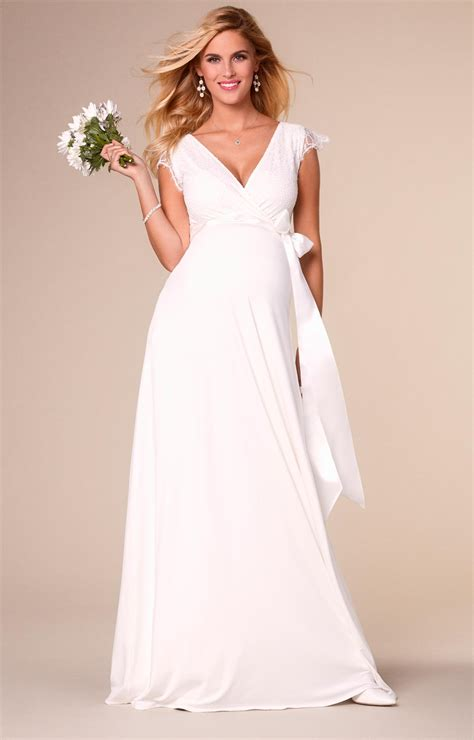 Ivory Wedding Gown by Rosa Maternity Wedding Gown Ivory Maternity Wedding