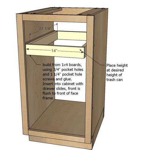 easy view cabinet organizers ana white build a 18 quot kitchen base cabinet trash pull