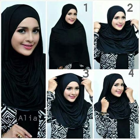 simple hijab tutorial great for glasses classy simple black hijab tutorial step by step hijabiworld