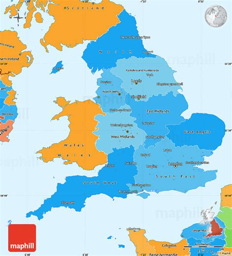 united kingdom political map political shades simple map of
