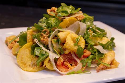 Fried Calamari Salad | pin by angela mayo on by the sea pinterest