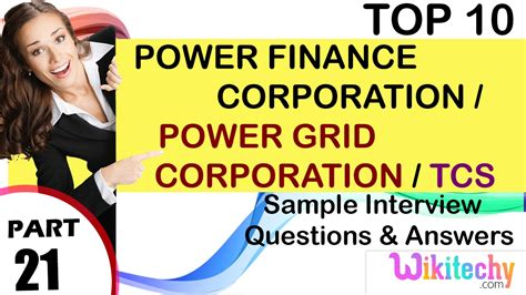 Tcs Questions For Mba Finance by Power Finance Corporation Power Grid Corporation Tcs