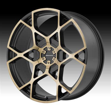 Handmade Wheels - kmc km695 crosshair satin black machined custom wheels