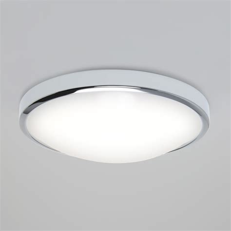 Led Bathroom Lights Ceiling Astro Osaka 350 Microwave Pir Led Bathroom Ceiling Wall Light Chrome 24w Ip44