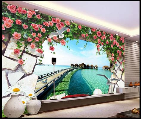 3d murals free shipping modern wall 3d murals wallpaper 3d rose
