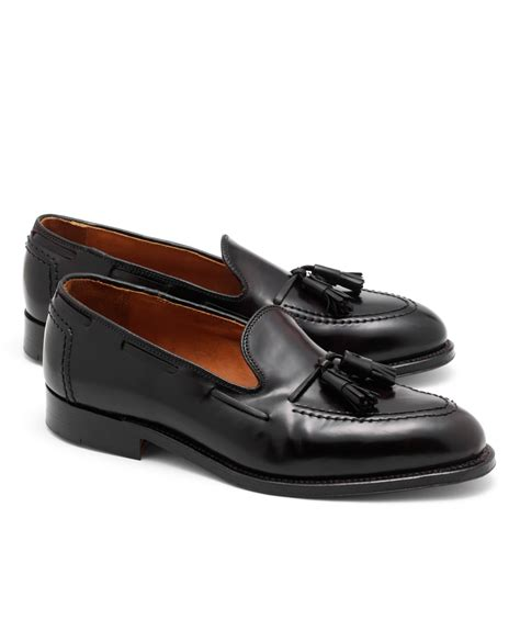 brothers loafers brothers cordovan tassel loafers in purple for