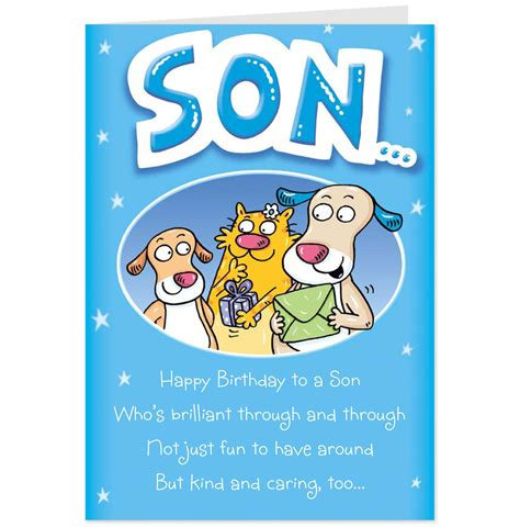 printable birthday cards son 6 best images of free printable happy birthday son free