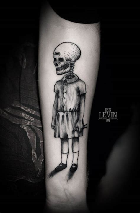 creepy tattoo illustrative designs by ien levin