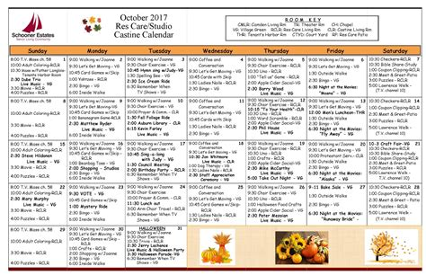 assisted living activity calendar template activity calendars