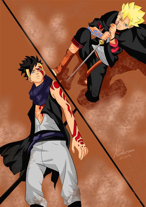 boruto kawaki boruto vs kawaki by wendyye on deviantart