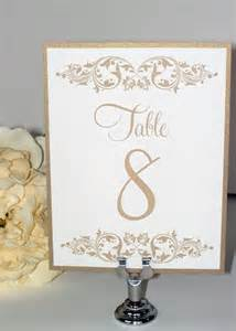 wedding table numbers wedding table cards gold leaf one sided 19 2064194