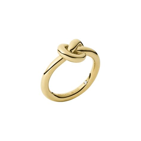 michael kors gold tone knot ring in metallic lyst