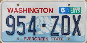 Wa State Vanity Plates washington 3