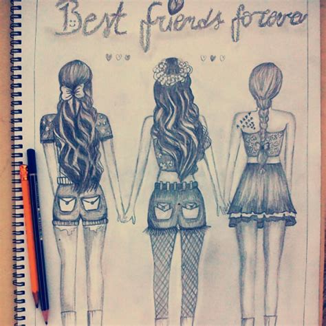 cute drawings of friendship best friend heart drawings hipster another draw made by me