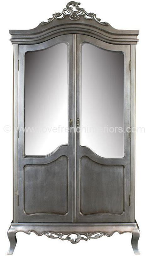 Silver Wardrobe by Tamsin Silver Mirrored Wardrobe