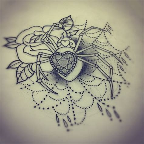 rose with spider web tattoo 25 best ideas about spider web on