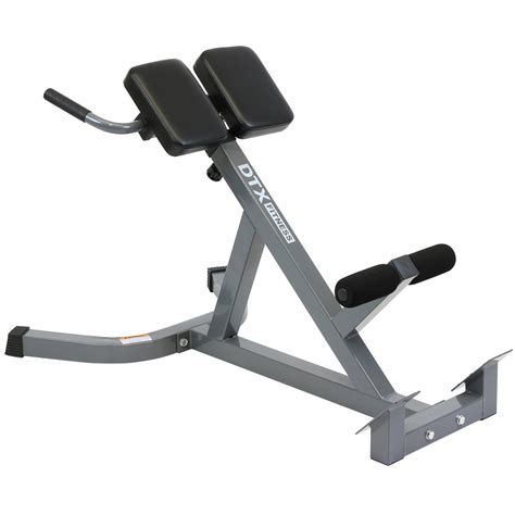 reverse sit up on incline bench dtx fitness back hyper extension exercise bench