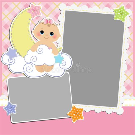 baby arrival cards templates template for baby s card stock vector illustration