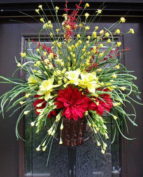 door flower designs summer door wreath wall floral arrangement grassy flower