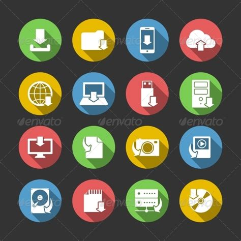 imagenes del internet internet download symbols icons set by macrovector