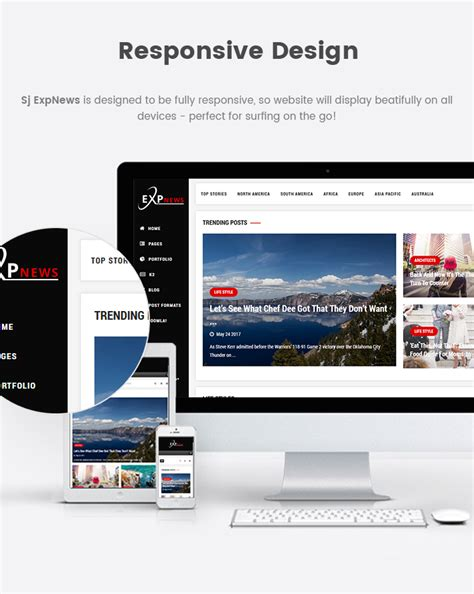 magazine responsive layout sj expnews