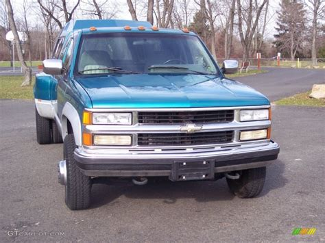 1994 chevrolet c k 3500 extended cab 4x4 dually interior bright teal metallic 1994 chevrolet c k 3500 extended cab