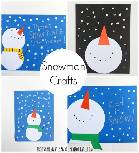 winter kid crafts snowman craft for snowman crafts winter activities
