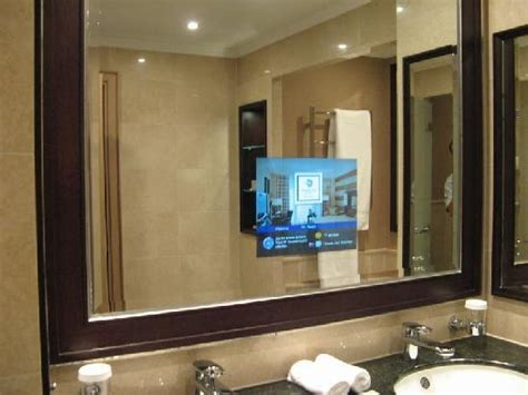 bathroom mirror tv screen bathroom mirrors with tv built in amusing mirror tv bathroom hotel behind with built in screen