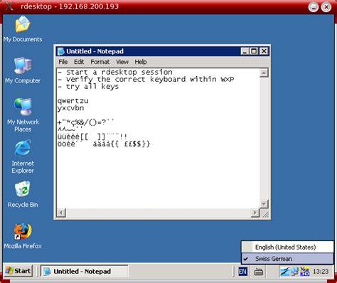Keyboard Layout Rdesktop | non us keyboards on a linux client using rdesktop