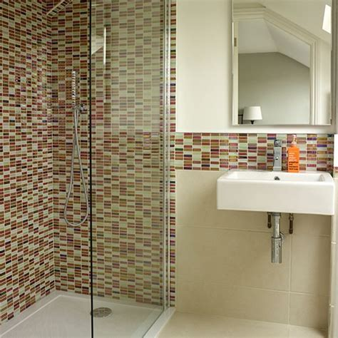 mosaic tiled bathrooms ideas colourful mosaic tiles to an en suite bathroom here red