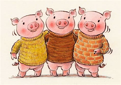 the three little pigs mary s illustration blog three little pigs
