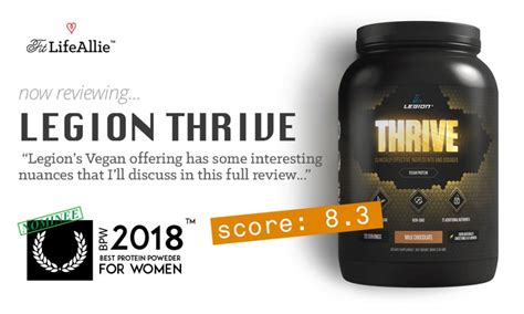 thrive w supplement reviews legion thrive vegan protein review what s w the creatine