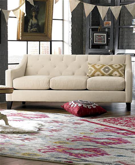 chloe sofa macys chloe velvet tufted sofa living room furniture collection