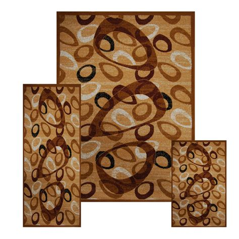 accent rugs and runners 3 pc set modern contemporary geometric area rug runner