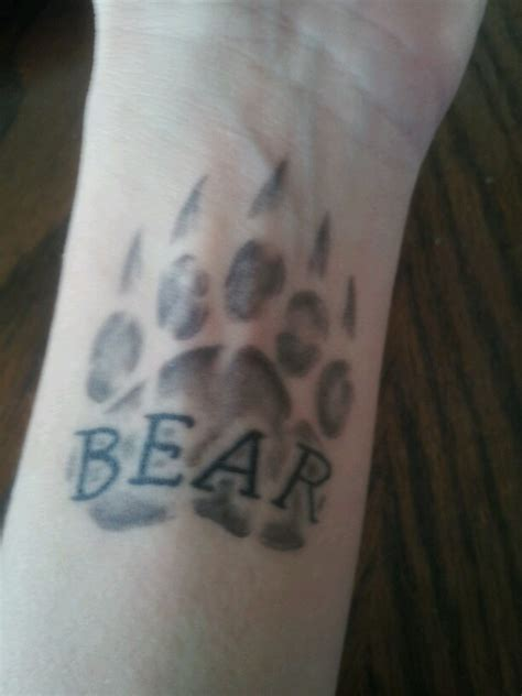 tattoo pictures bear paws 16 best photos tattoos images on pinterest bear paws
