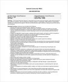 human resources description template sle human resources description 7 exles in pdf