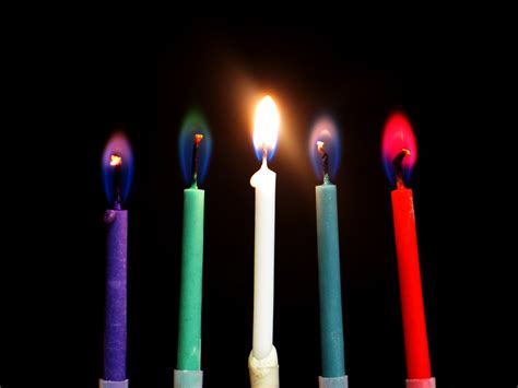 Colored Candles Flames American Chemical Society